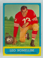 1963 Topps Football 143 Leo Nomellini San Francisco 49ers Excellent