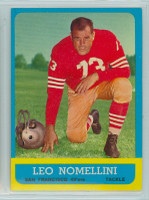 1963 Topps Football 143 Leo Nomellini San Francisco 49ers Excellent to Mint