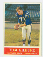 1964 Philadelphia 2 Tom Gilburg Baltimore Colts Excellent