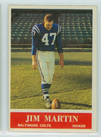 1964 Philadelphia 5 Jim Martin Baltimore Colts Excellent to Mint