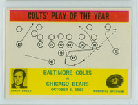 1964 Philadelphia 14 Colts Play (Shula) Near-Mint