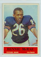 1964 Philadelphia 21 Bennie McRae ROOKIE Chicago Bears Excellent to Mint