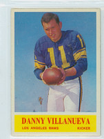 1964 Philadelphia 96 Danny Villanueva Los Angeles Rams Excellent to Mint