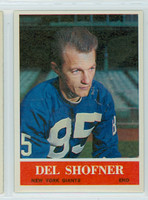 1964 Philadelphia 123 Del Shofner New York Giants Excellent to Mint