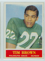 1964 Philadelphia 129 Timmy Brown Philadelphia Eagles Excellent to Mint
