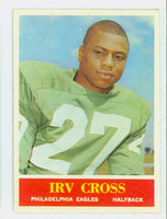 1964 Philadelphia 131 Irv Cross ROOKIE Philadelphia Eagles Excellent