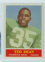 1964 Philadelphia 132 Ted Dean Philadelphia Eagles Excellent to Mint