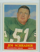 1964 Philadelphia 137 Jim Schrader Philadelphia Eagles Excellent to Mint