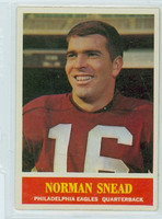 1964 Philadelphia 138 Norm Snead Philadelphia Eagles Excellent to Mint