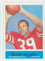 1964 Philadelphia 155 Kermit Alexander ROOKIE San Francisco 49ers Excellent to Excellent Plus