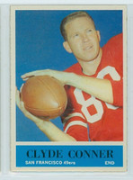 1964 Philadelphia 158 Clyde Conner San Francisco 49ers Excellent to Mint