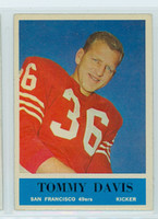 1964 Philadelphia 159 Tommy Davis San Francisco 49ers Excellent to Mint