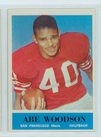 1964 Philadelphia 166 Abe Woodson San Francisco 49ers Excellent to Mint