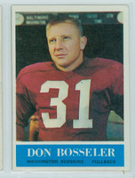 1964 Philadelphia 184 Don Bosseler Washington Redskins Excellent to Mint