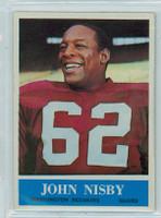 1964 Philadelphia 190 John Nisby Washington Redskins Excellent to Mint