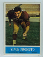 1964 Philadelphia 191 Vince Promuto Washington Redskins Excellent to Mint
