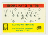 1964 Philadelphia 196 Redskins Play Very Good to Excellent