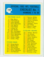 1964 Philadelphia 197 Checklist One Very Good