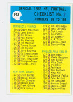 1964 Philadelphia 198 Checklist Two Fair