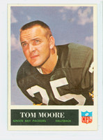 1965 Philadelphia 78 Tom Moore Green Bay Packers Excellent to Excellent Plus