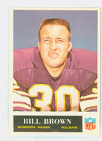 1965 Philadelphia 102 Bill Brown Minnesota Vikings Excellent to Mint