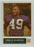 1965 Philadelphia 114 Erich Barnes New York Giants Excellent to Mint