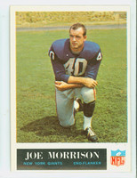1965 Philadelphia 120 Joe Morrison ROOKIE New York Giants Excellent to Excellent Plus