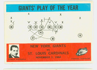 1965 Philadelphia 126 Giants Play Excellent to Excellent Plus