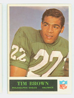 1965 Philadelphia 130 Timmy Brown Philadelphia Eagles Excellent