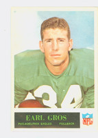 1965 Philadelphia 133 Earl Gros Philadelphia Eagles Excellent