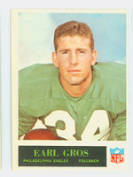 1965 Philadelphia 133 Earl Gros Philadelphia Eagles Excellent to Excellent Plus