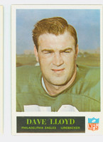 1965 Philadelphia 134 Dave Lloyd Philadelphia Eagles Excellent