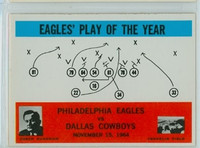 1965 Philadelphia 140 Eagles Play Excellent to Mint