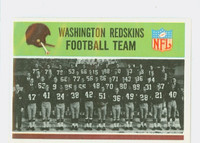 1965 Philadelphia 183 Redskins Team Excellent