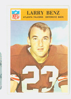 1966 Philadelphia 2 Larry Benz Atlanta Falcons Excellent