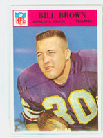1966 Philadelphia 107 Bill Brown Minnesota Vikings Near-Mint