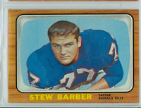 1966 Topps Football 16 Stew Barber Buffalo Bills Excellent to Mint