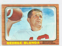 1966 Topps Football 48 George Blanda Houston Oilers Very Good to Excellent