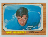 1966 Topps Football 51 Ode Burrell Houston Oilers Excellent