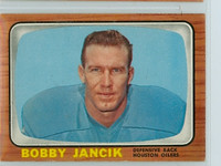 1966 Topps Football 58 Bobby Jancik Houston Oilers Excellent to Mint