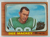 1966 Topps Football 93 Dee Mackey New York Jets Excellent to Excellent Plus