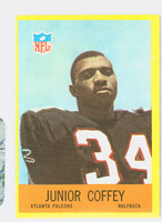 1967 Philadelphia 2 Junior Coffey ROOKIE Atlanta Falcons Excellent to Excellent Plus