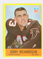 1967 Philadelphia 8 Jerry Richardson ROOKIE Atlanta Falcons Excellent to Excellent Plus