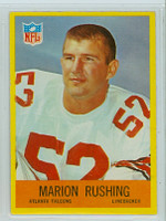 1967 Philadelphia 9 Marion Rushing Atlanta Falcons Excellent to Mint