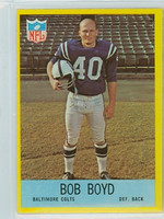 1967 Philadelphia 15 Bob Boyd Baltimore Colts Excellent to Mint