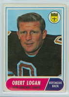 1968 Topps Football 4 Obert Logan New Orleans Saints Excellent to Excellent Plus