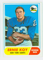1968 Topps Football 5 Ernie Koy ROOKIE New York Giants Excellent to Excellent Plus