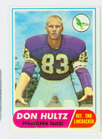 1968 Topps Football 6 Don Hultz Philadelphia Eagles Very Good