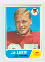 1968 Topps Football 8 Jim Bakken St. Louis Cardinals Excellent to Mint