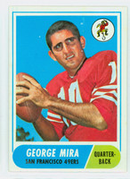 1968 Topps Football 9 George Mira San Francisco 49ers Very Good